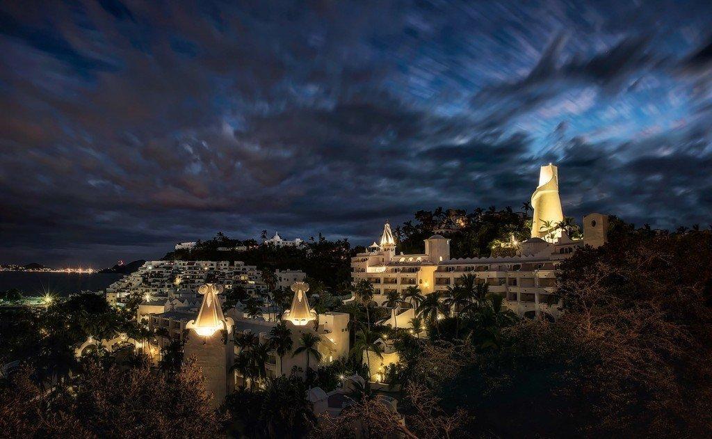 Creative Edit: Coastal Towers at Night - Tim Martin