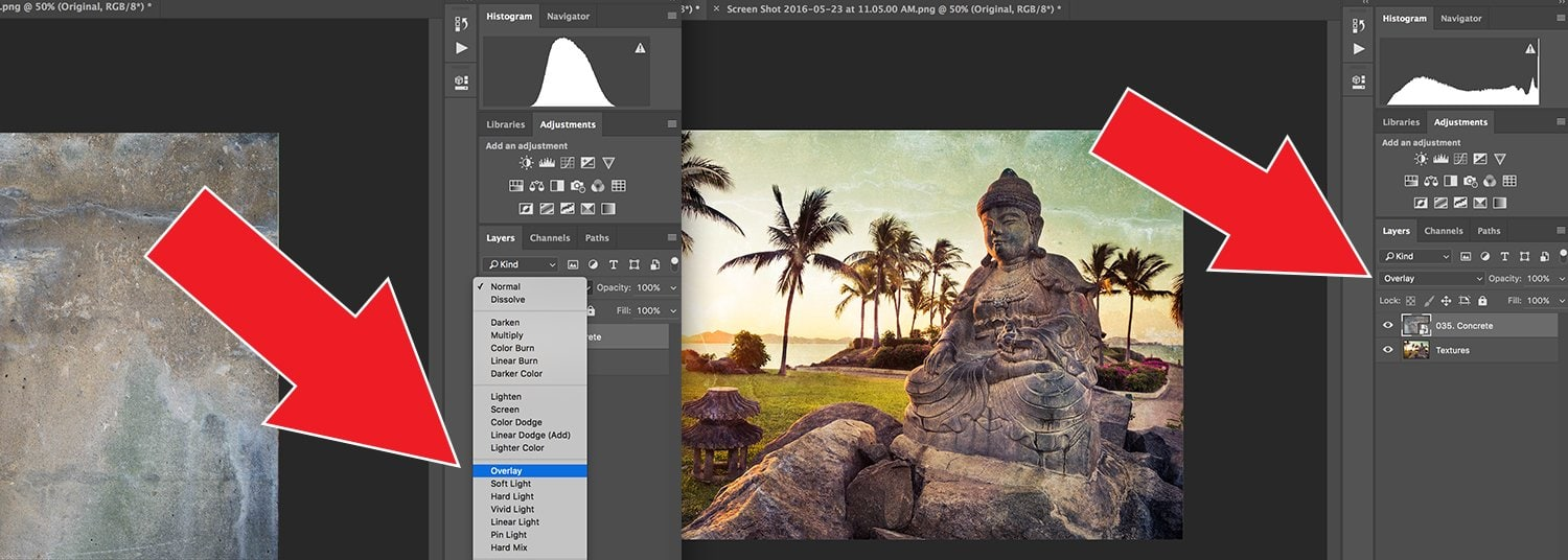 How To Blend Textures in Photoshop Step 2