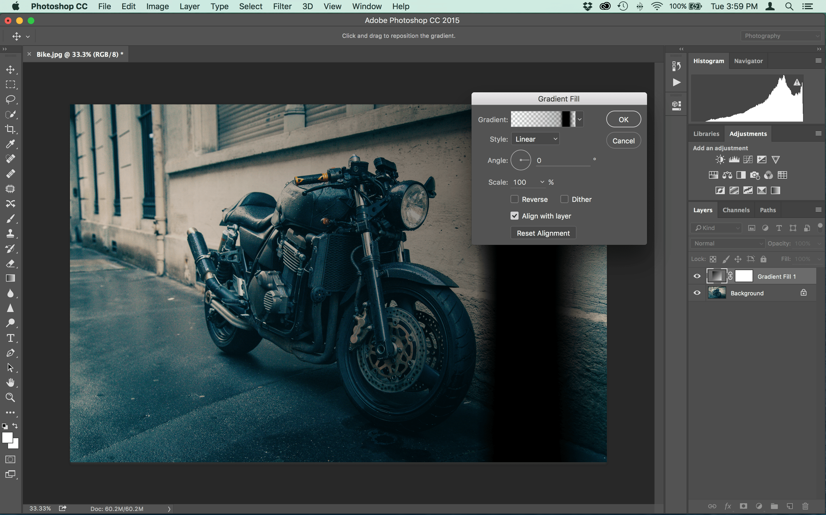How to Make Vintage Light Leaks in Photoshop Step Four.