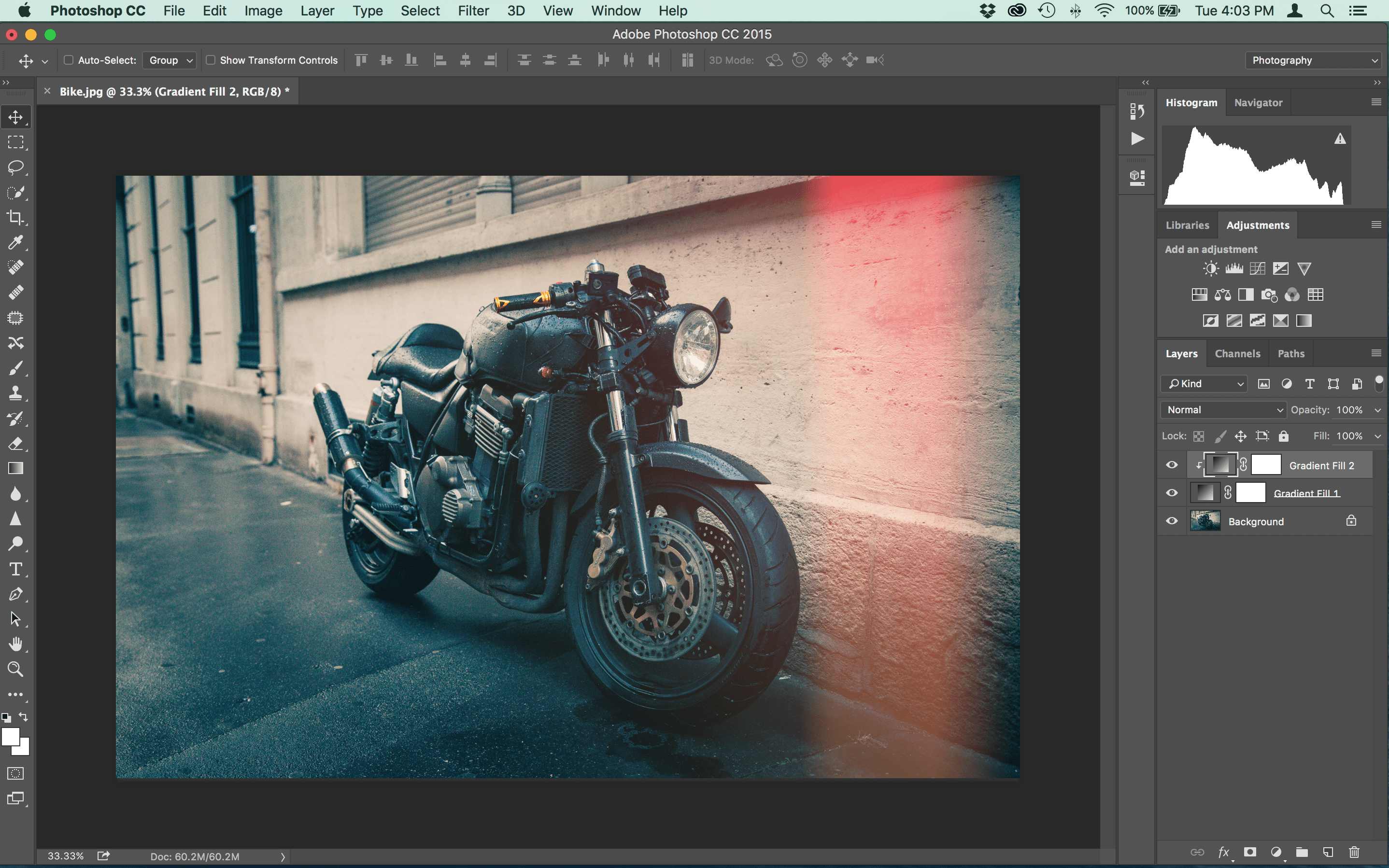 How to Make Vintage Light Leaks in Photoshop Step Ten