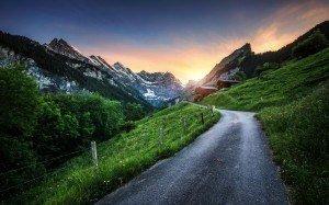 HDR-Photography-Sunset-Over-Switzerland