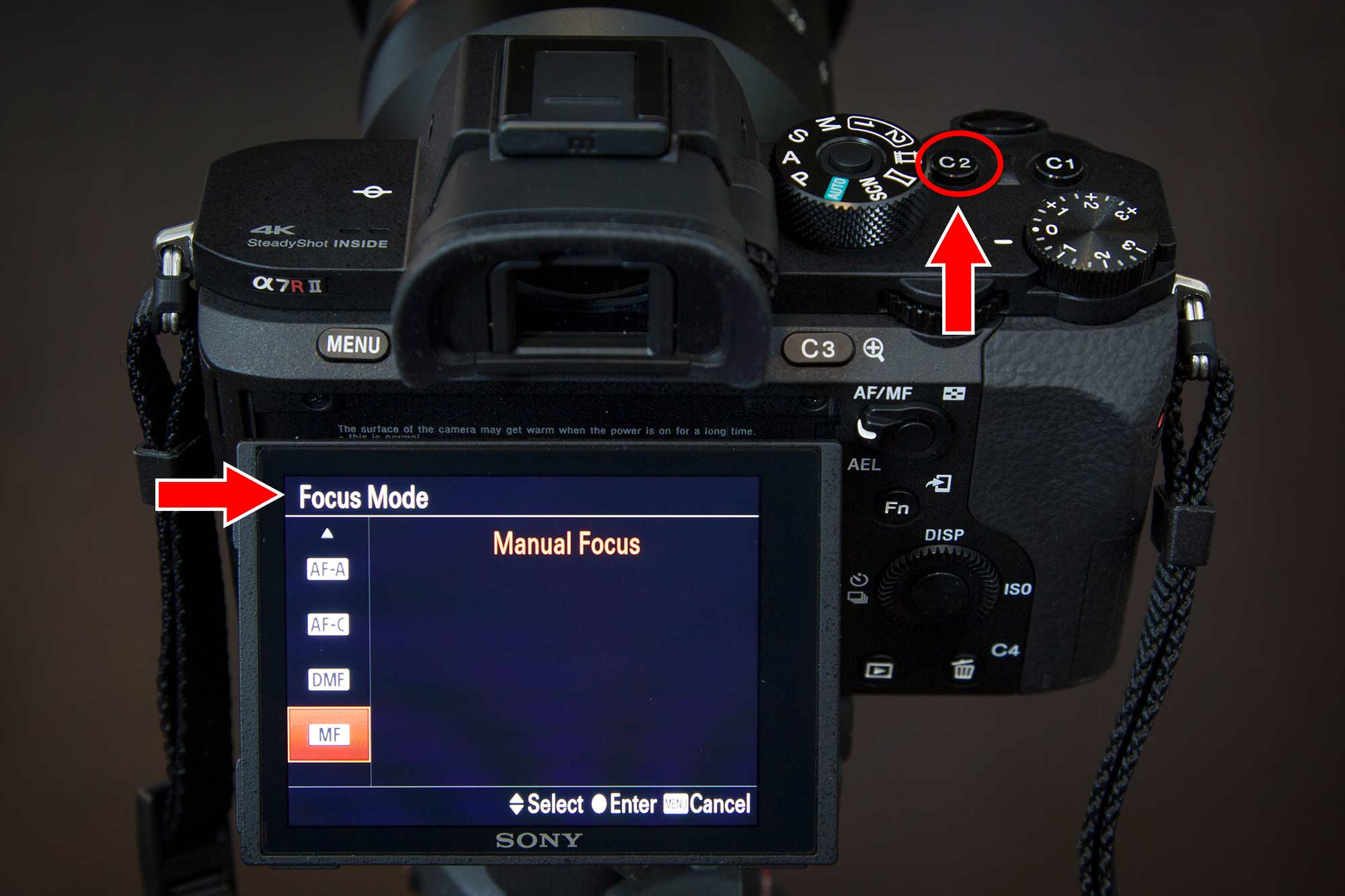Sony a7r ii Customize Your Buttons Focus Mode