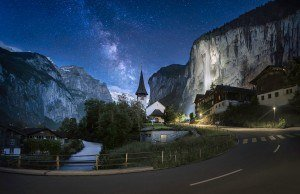 HDR Photography Starry-Night-in-Switzerland