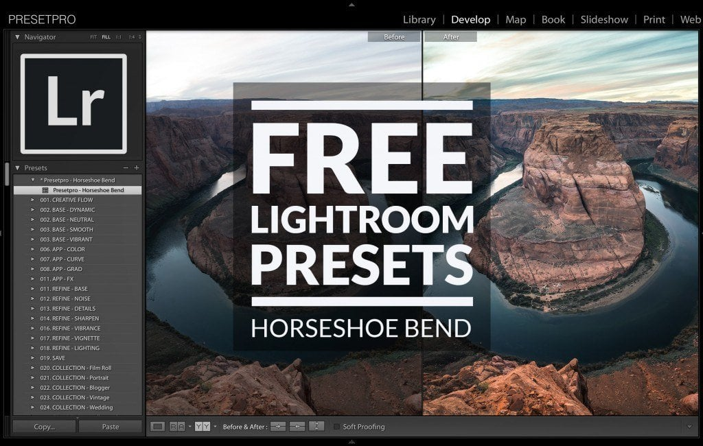 Free-Lightroom-Preset-Horseshoe-Bend