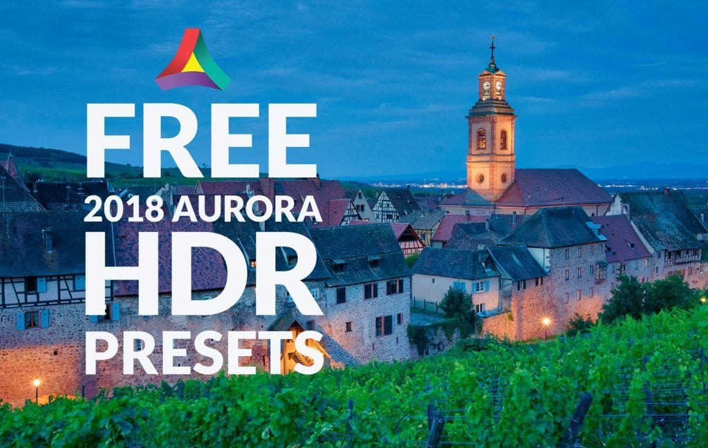 Free 2018 Aurora HDR Presets by Presetpro Cover