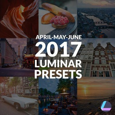 Presets for April May June 2017