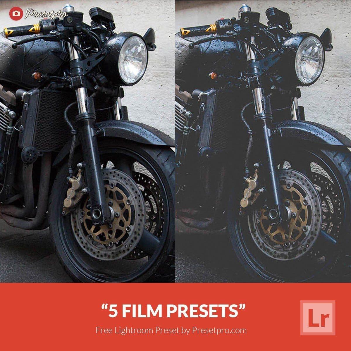 5 Free Film Lightroom Presets