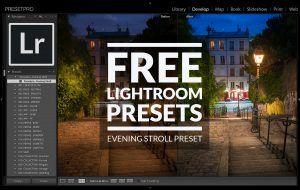 Free Lightroom Preset Evening Stroll Presetpro