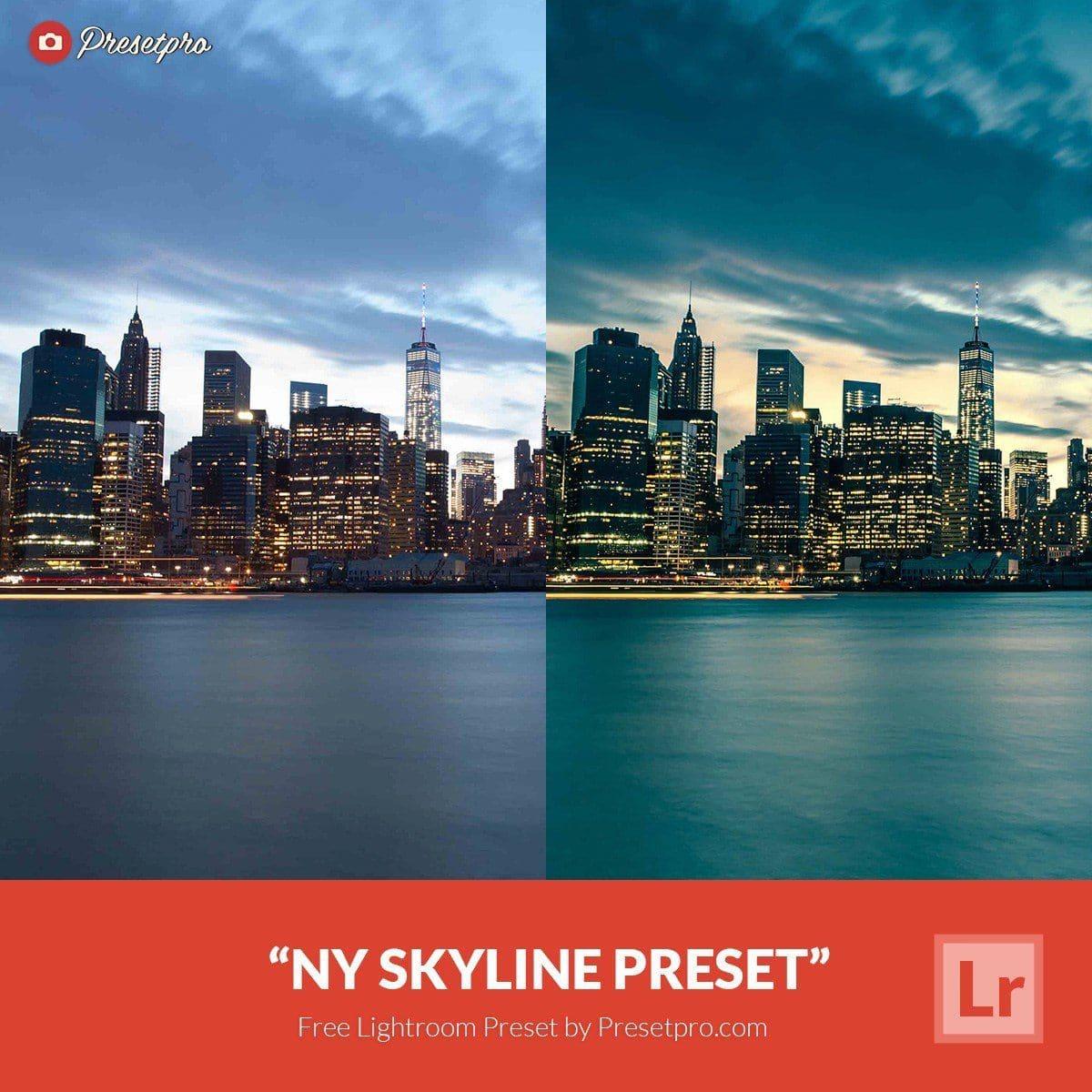 Free Lightroom Preset NY Skyline