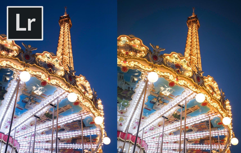 Free Lightroom Preset Carnival Lights Before and After Presetpro