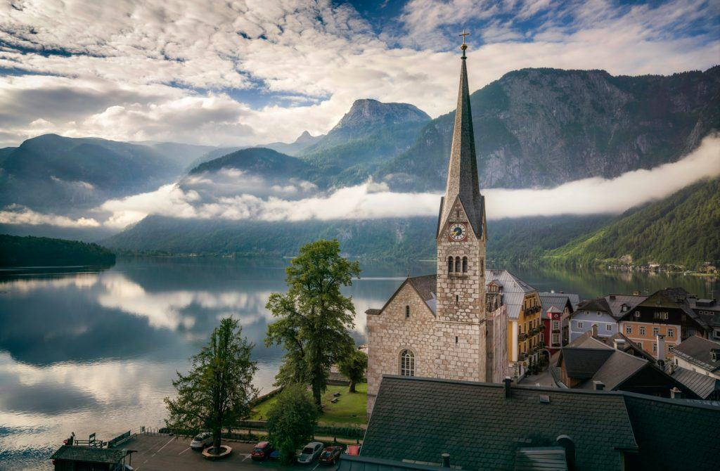 HDR-Photography-Misty Morning in Hallstatt Austria Presetpro