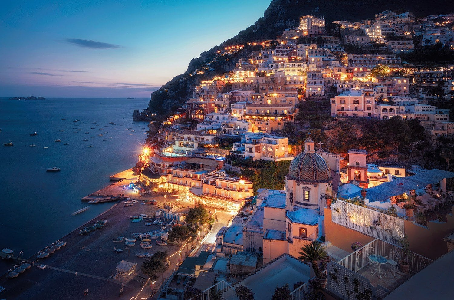 Nightscape Photography Magical Lights in Positano Presetpro.com