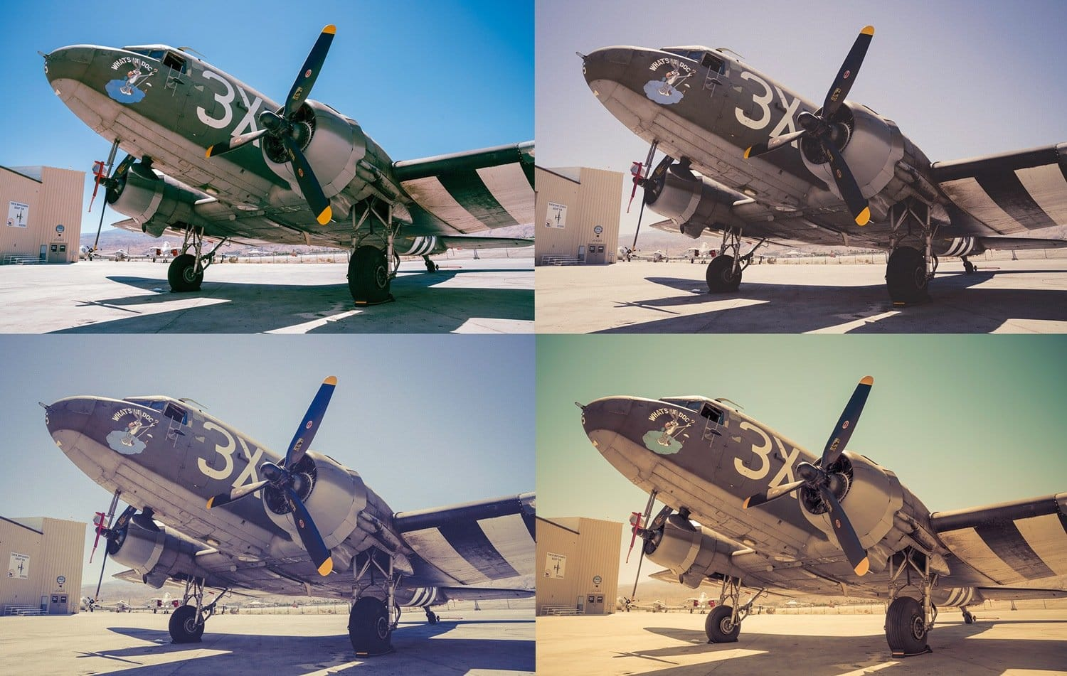 5 Creative Looks in Lightroom – Palm Springs Warbird DC3 Cover