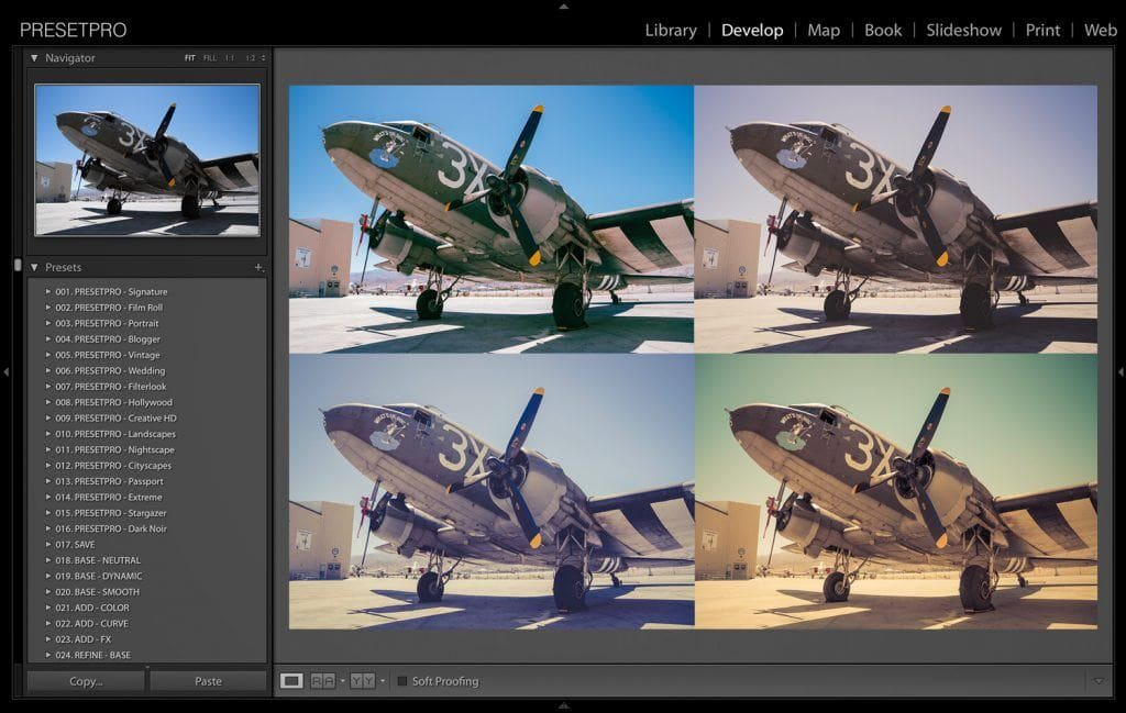 5 Creative Looks in Lightroom - Palm Springs Warbird DC3 Presetpro