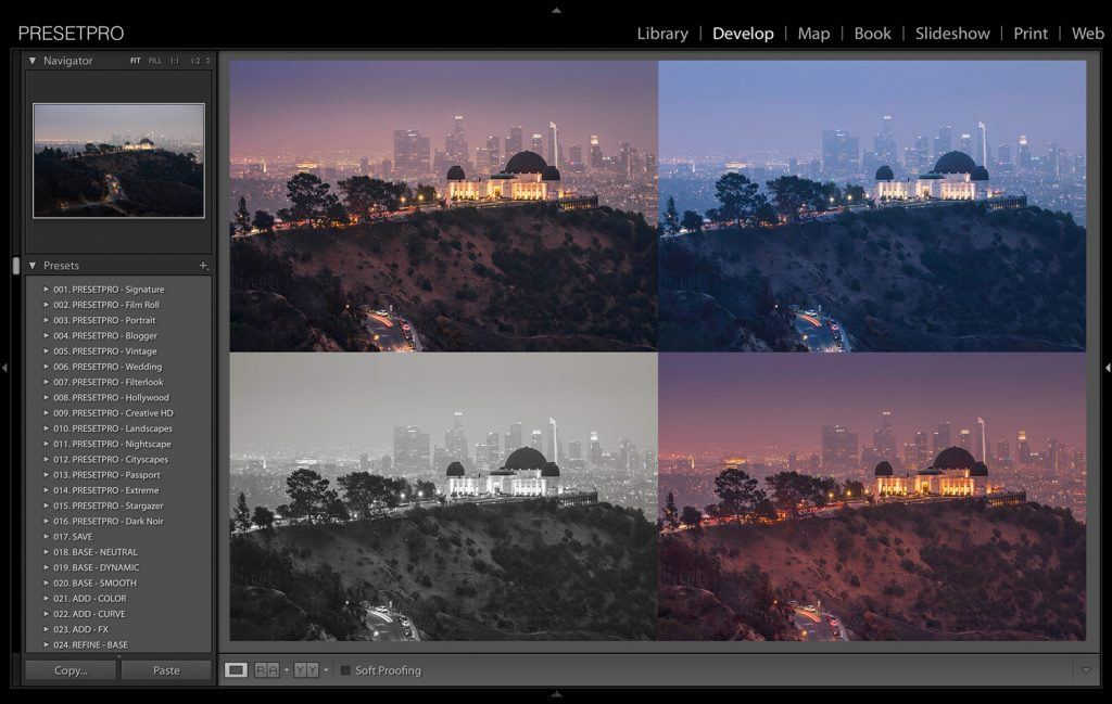 5 Creative Looks in Lightroom | Hollywood Hills - Presetpro com