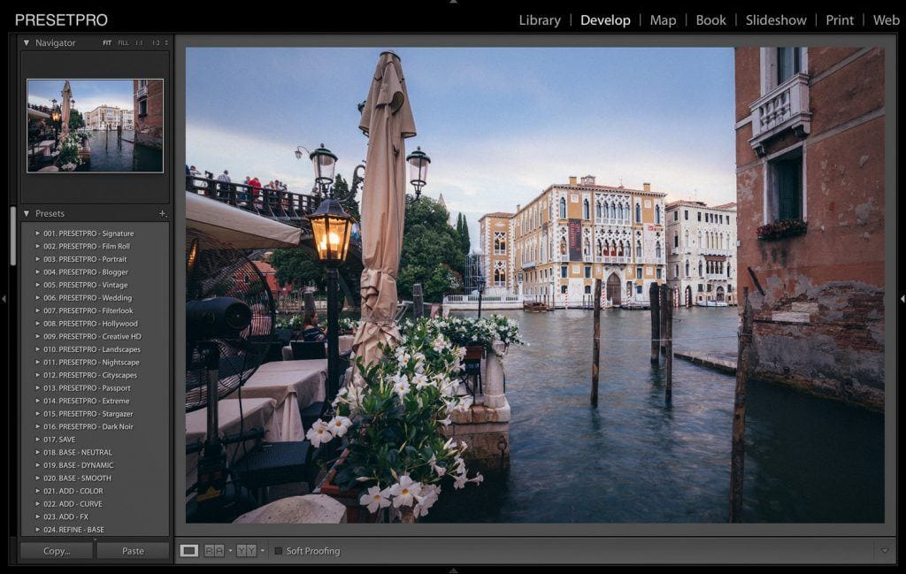 Creative Looks in Lightroom Venice Italy Presetpro.com