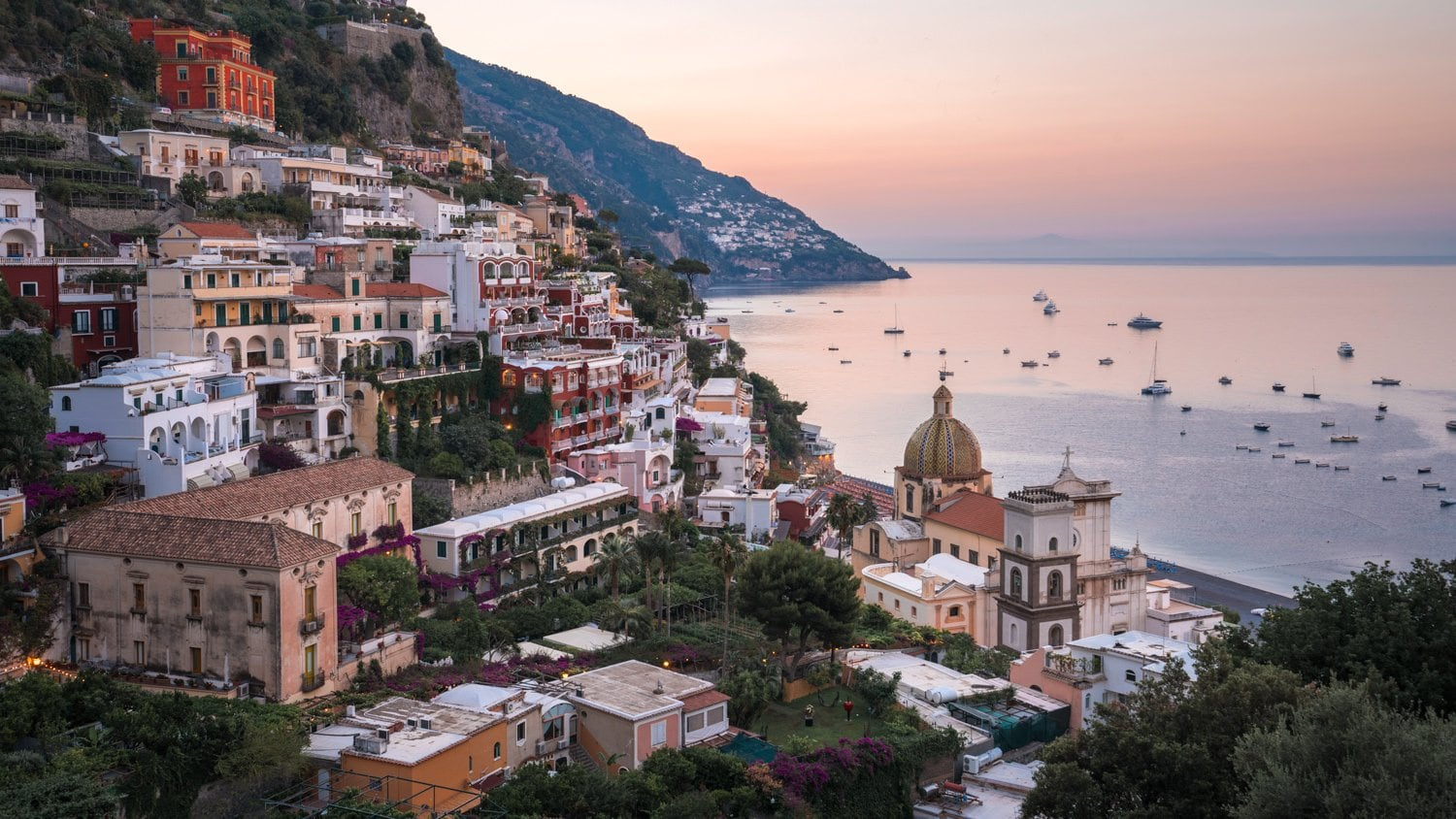 HDR Photography - Dawn in Positano Italy