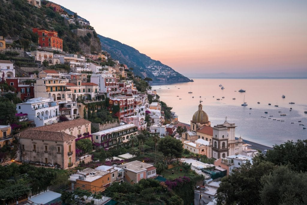 HDR-Photography-Dawn-in-Positano-Italy