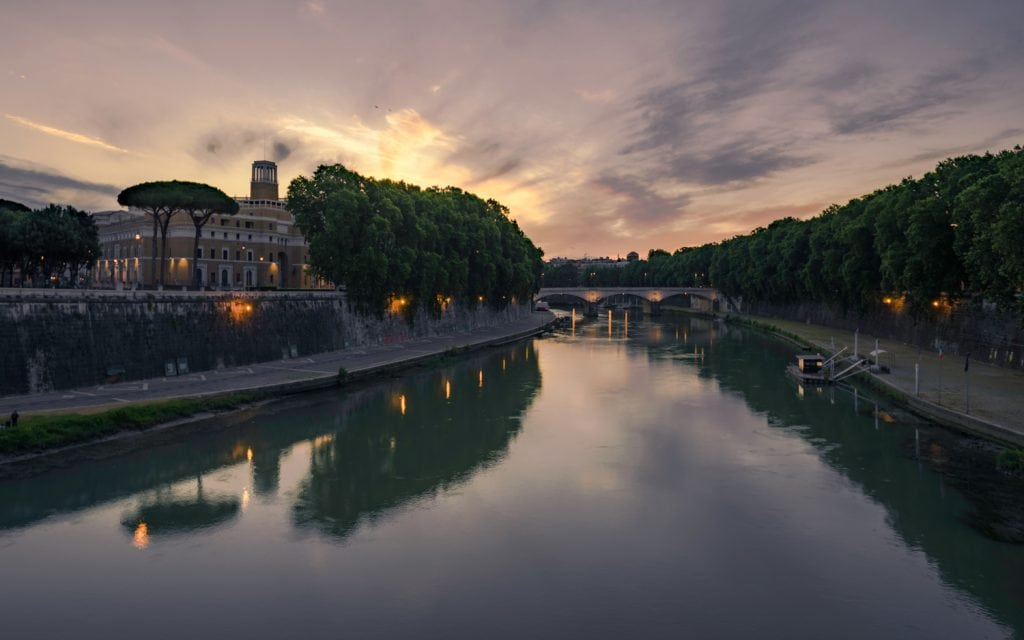 HDR Photography Photo taken on the Tiber River in Rome Italy