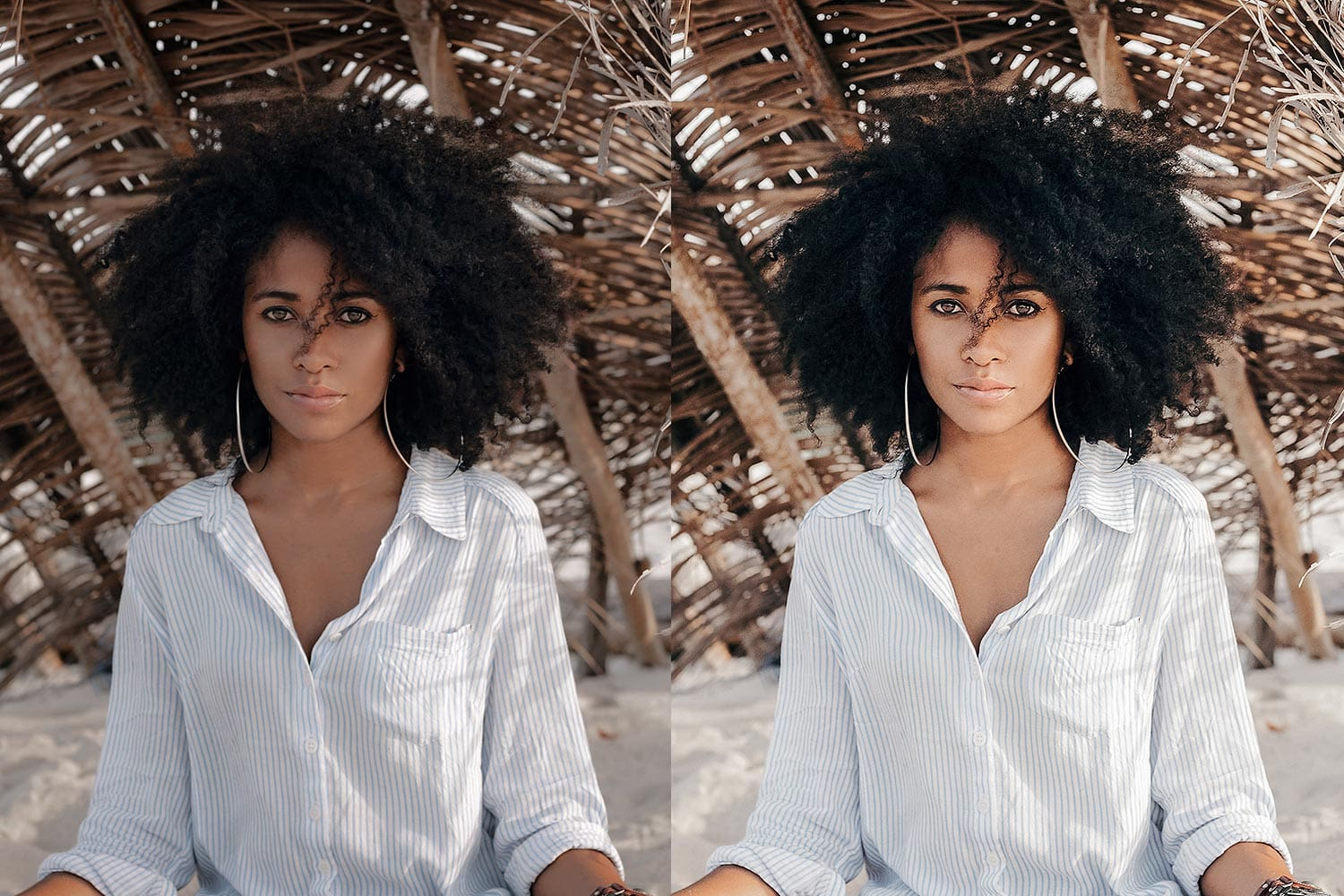 Beautiful-Lightroom-Presets-and-Profiles-Beach-Girl-Portrait-Before-and-After-Presetpro.com