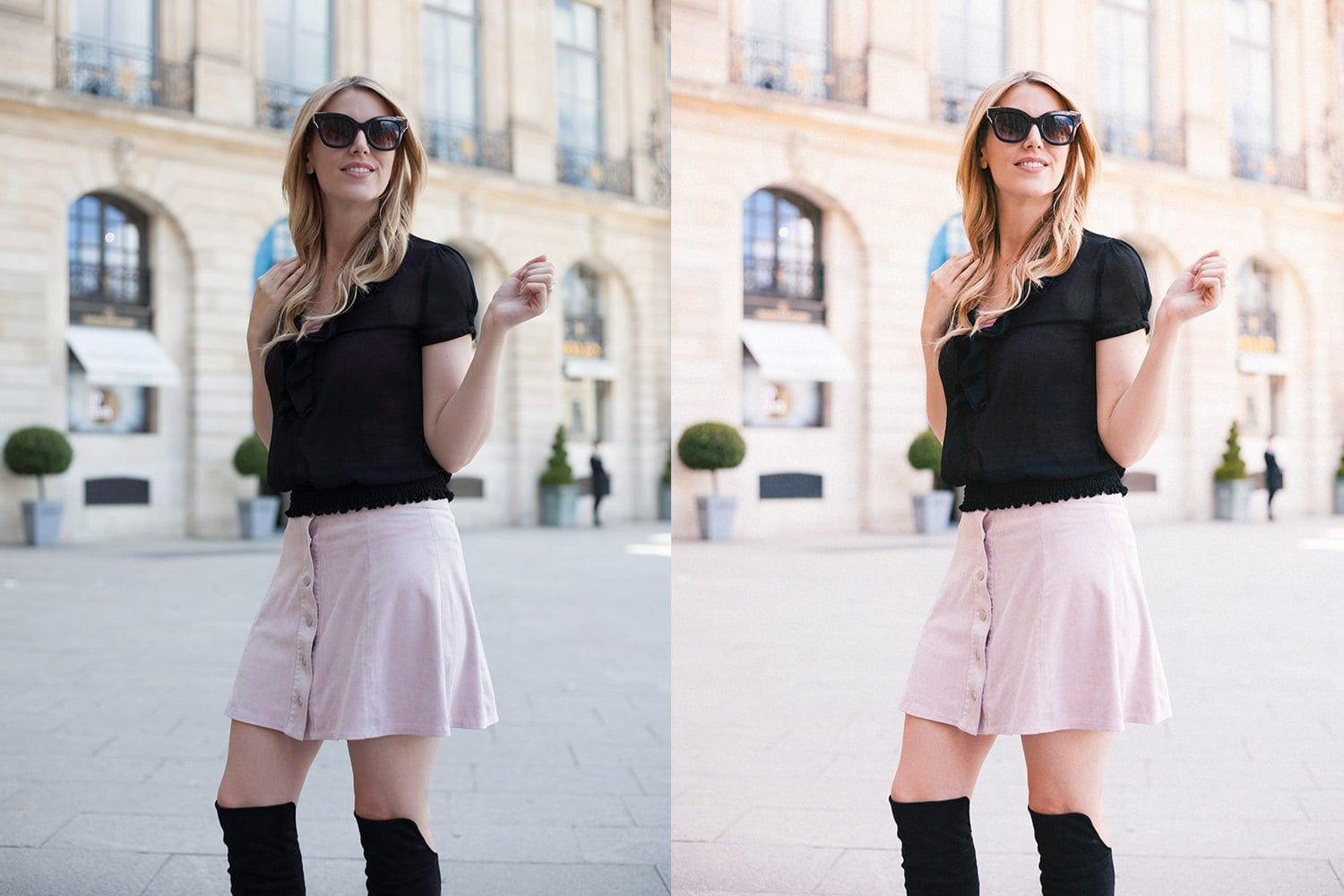 Beautiful-Lightroom-Presets-and-Profiles-Paris-Girl-Before-and-After-Presetpro.com