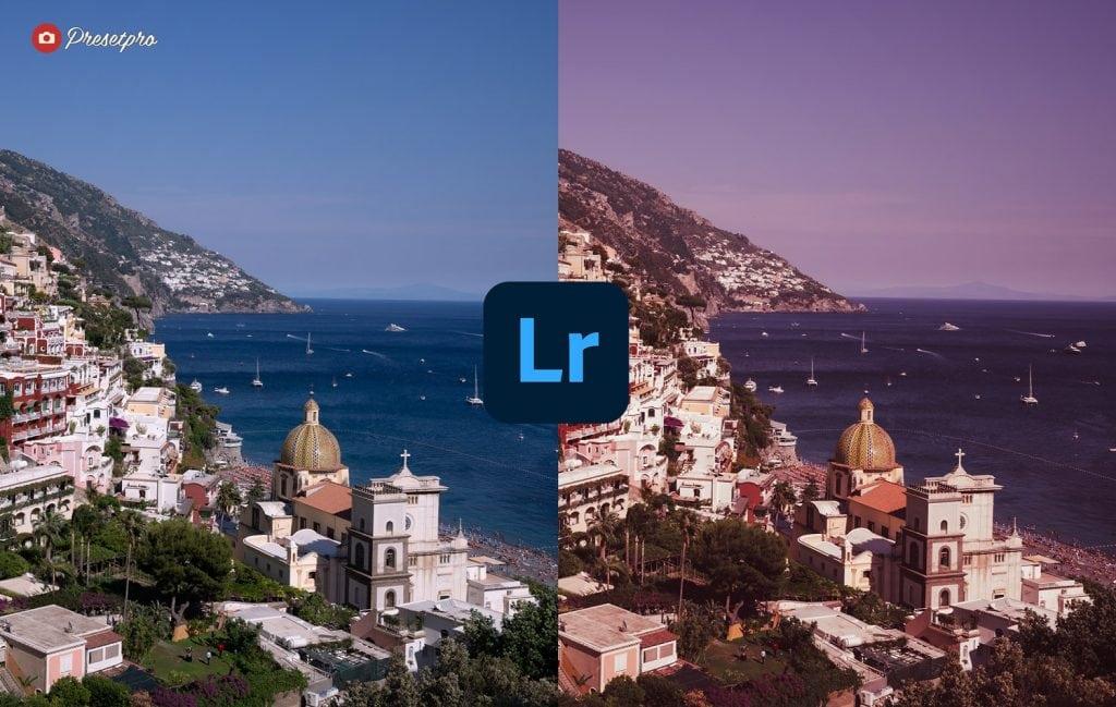 Free-Lightroom-Preset-Retro-Beach-Before-and-After-Cover-Presetpro.com