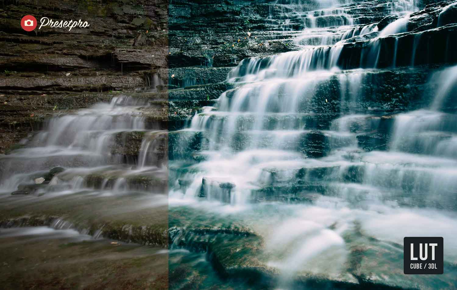 Free-Color-Lookup-Table-LUTs-Watefall-CUBE-3DL-Before-After-Presetpro.com
