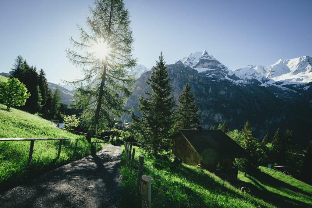 Film Emulation | Sunrise in Switzerland
