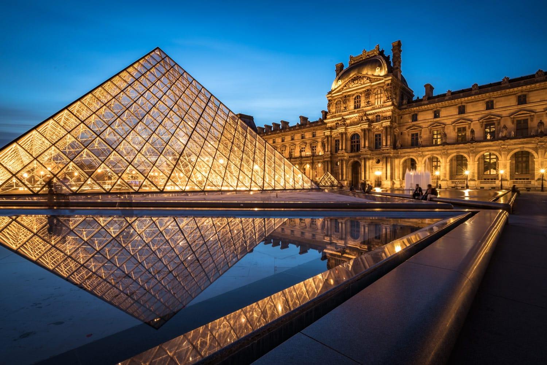 Night Photography Paris Louvre at Night